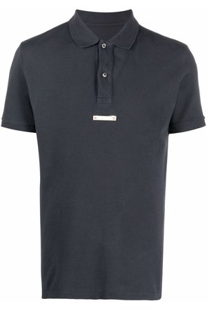Maison Margiela Men Polo Shirts - Logo-patch polo shirt - Grey