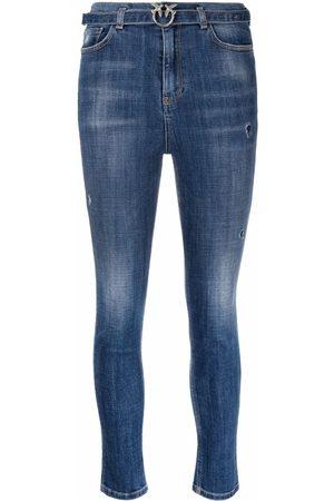 Pinko Women Skinny - Belted skinny jeans