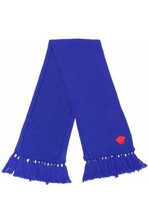 Versace Kids Embroidered Medusa-Head wool scarf