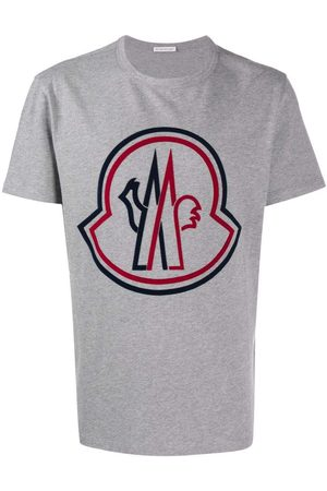 Moncler Debossed Logo T-Shirt Grey