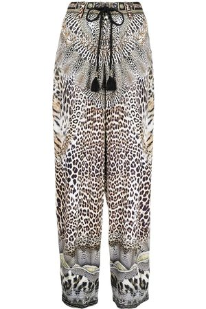 Camilla Women Straight Leg Pants - Call of Cathedral print trousers - Multicolour
