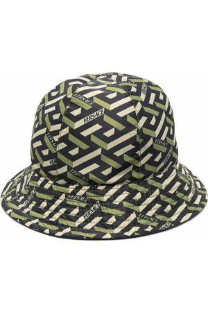 VERSACE Logo geometric bucket hat