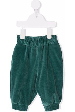 We Are Kids Velvet-effect organic-cotton trousers