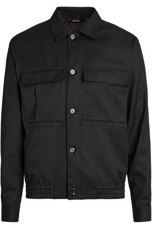 Z Zegna Wool multi-pocket overshirt