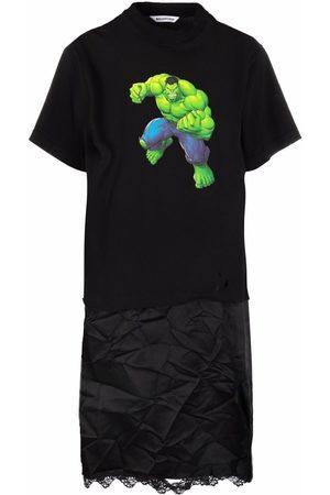 Balenciaga Women Casual Dresses - Hulk print slip T-shirt dress