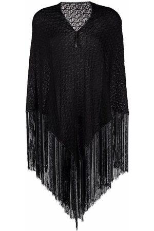 Missoni Women Scarves - Metallic crochet-knit shawl