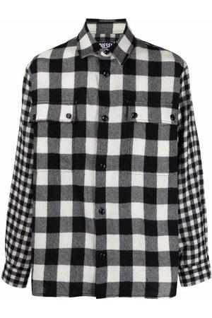 Diesel Men Casual - Flannel checked wool shirt