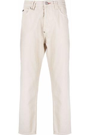 Philipp Plein Men Straight - Iconic carrot-cut jeans - Neutrals