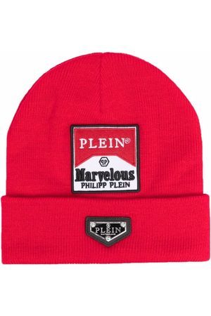 Philipp Plein Marvellous logo-patch wool hat
