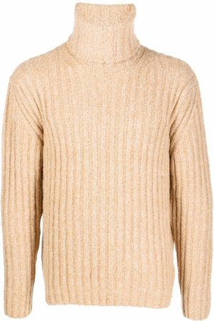 Etudes Men Turtlenecks - Ribbed knit roll-neck jumper - Neutrals