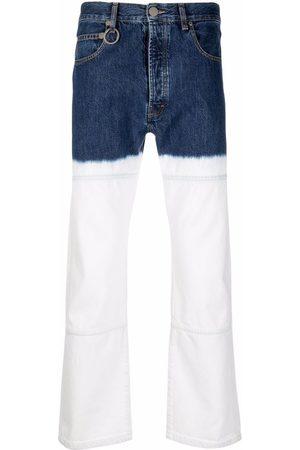 Etudes Two-tone bleached straight-leg jeans