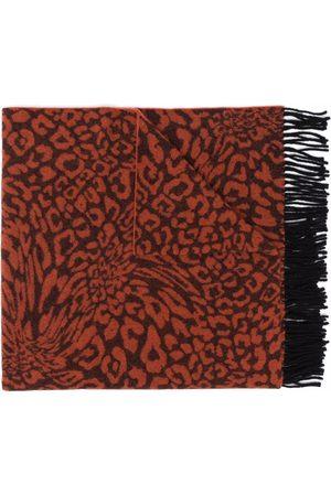 Etudes Men Scarves - Leopard print knit scarf
