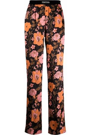 Tom Ford Floral-print straight-leg trousers