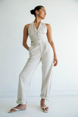The Line By K The Bettina Trousers in Flax Linen