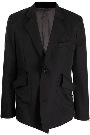 Sulvam Asymmetric gabardine blazer