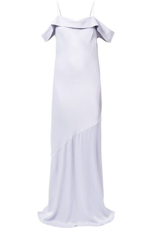 Rebecca Vallance Women Strapless Dresses - Olivia off-shoulder slip gown