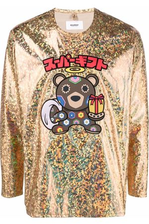 DOUBLET Long Sleeve - Holographic-print long-sleeved T-shirt