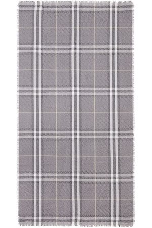 Burberry Scarves - Monogram check scarf - Grey