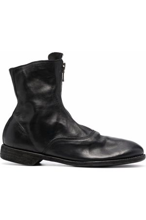 GUIDI Ankle Boots - Leather zip-front ankle boots