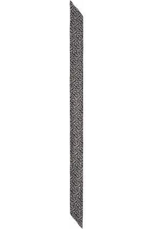 Burberry Scarves - Reversible crystal-embellished monogram scarf