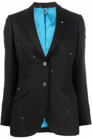 MAURIZIO MIRI Women Blazers - Single-breasted star-embellished blazer