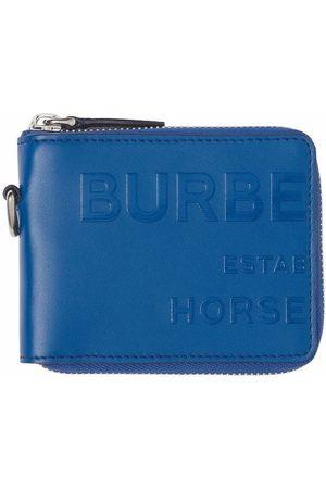 Burberry Men Wallets - Horseferry print zip around cardholder