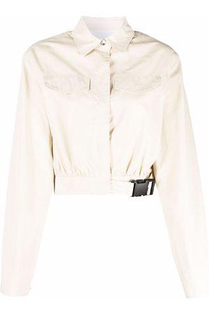 REMAIN Buckled denim jacket - Neutrals