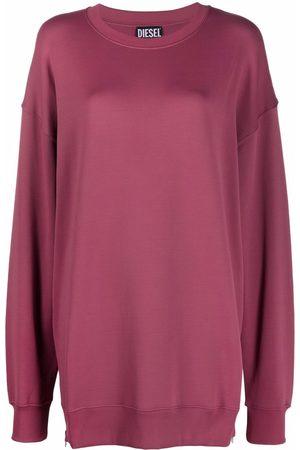 Diesel Women Sweatshirts - Zip detail sweatshirt dress