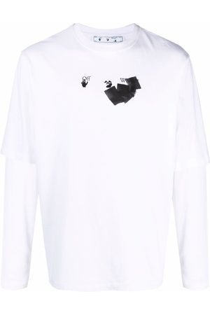 Off-White Arrow-print double-sleeve T-shirt