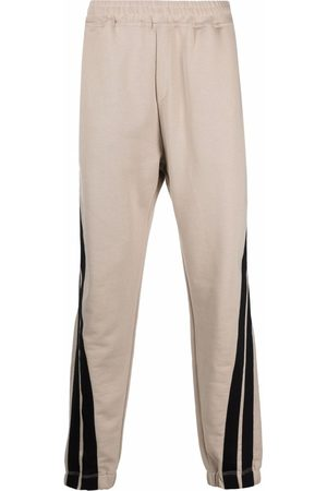 MSGM Men Sweatpants - Side stripe track trousers - Neutrals