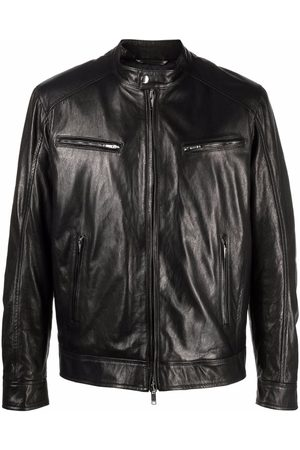 Dondup Zipped down leather jacket