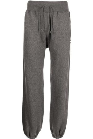 UNDERCOVER Logo-patch drawstring track pants - Grey