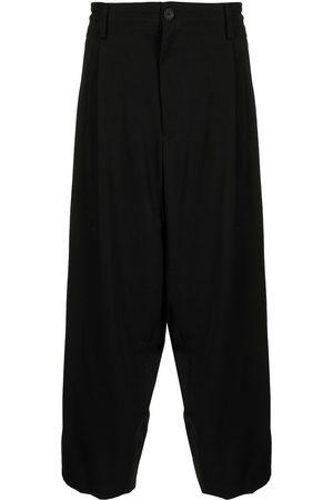 Yohji Yamamoto Men Wide Leg Pants - Gabardine 2Tuck Middle Wide pants