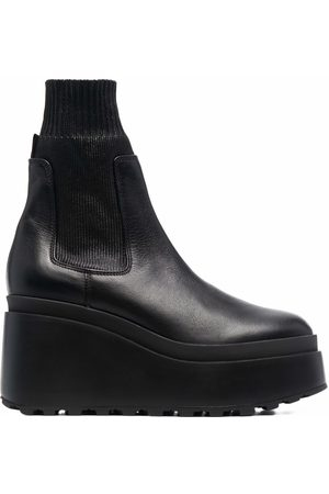 Vic Matie Leather wedge ankle boots