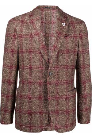 Lardini Men Blazers - Check pattern blazer