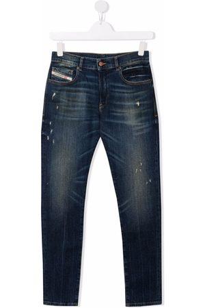 Diesel TEEN mid-rise slim-cut jeans
