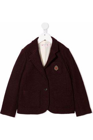Bonpoint Girls Blazers - Embroidered crest blazer