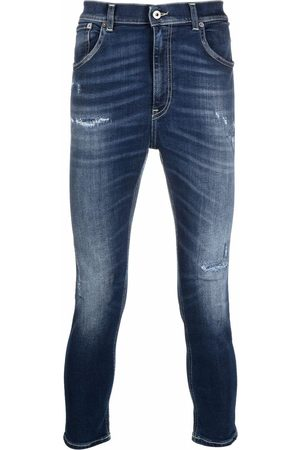 Dondup Men Skinny - Cropped distressed skinny jeans