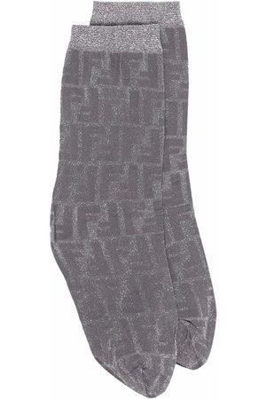 Fendi FF-motif ankle socks - F0QA0 GREY