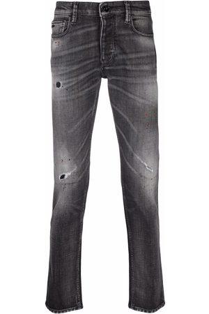 Emporio Armani Distressed mid-rise skinny jeans