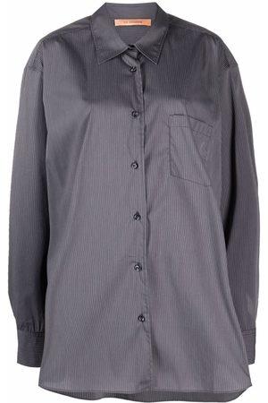 The Andamane Women Shirts - Oversize cotton-blend shirt - Grey
