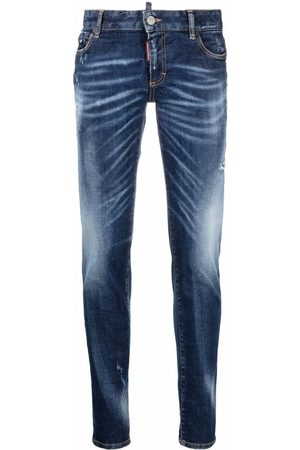 Dsquared2 Distressed faded skinny jeans