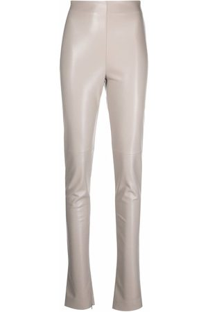 The Andamane High waisted slim trousers - Neutrals