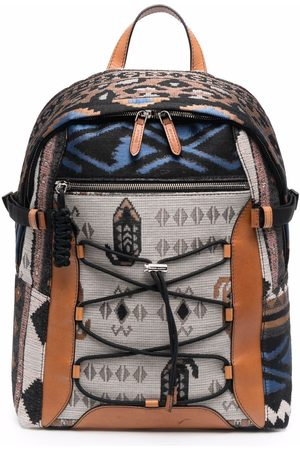 Etro Patterned zip-up backpack - Neutrals