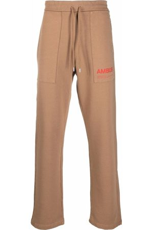 AMBUSH Logo-print track pants - Neutrals