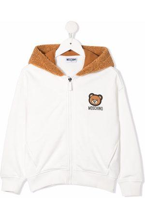 Moschino Boys Hoodies - Teddy-bear logo hoodie