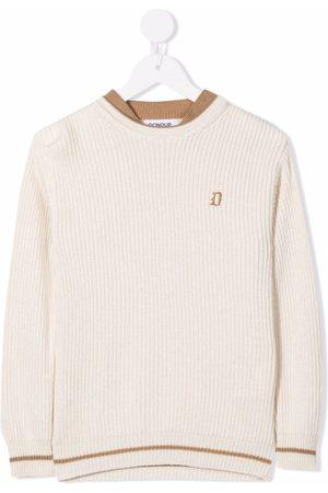 Dondup Striped brim jumper - Neutrals
