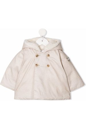 BONPOINT Double-breasted down coat - Neutrals