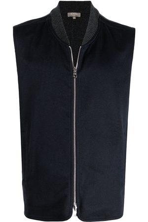 N.PEAL Woven cashmere waistcoat - Grey
