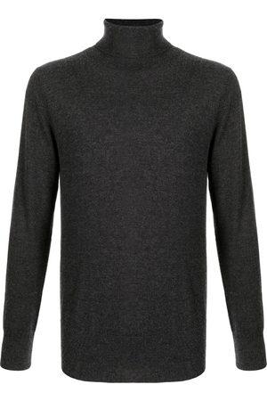 N.PEAL Men Turtlenecks - Fine knit roll neck jumper - Grey